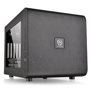 Tt(Thermaltake)Core V21 M-ATX机箱 (标配20cm风扇强散热/双U3-支持水冷/模块设计/超长显卡/标准电源)