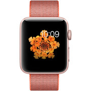 【apple授权专卖】WATCH SerieS2 42mm(PM2)玫瑰金亮橙配灰尼龙