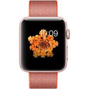 【apple授权专卖】WATCH SerieS2 42mm(PM2)玫瑰金亮橙配灰尼龙