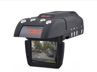 征服者 H8+高清720P行车记录仪和流动固定雷达测速电子狗 全功能一体机