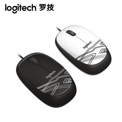 罗技M105有线鼠标笔记本电脑台式商务办公游戏光电鼠标有线家用