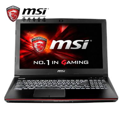 msi微星 GE62 6QC-490XCN【游戏学生本 酷炫外观 畅爽体验!】I7-6700 8G DDR4代 1T+128G SSD GTX960-2G发烧级独显