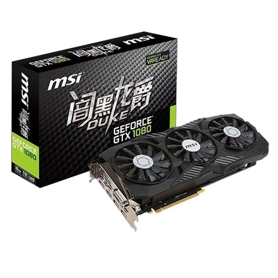 微星 MSI GTX 1080 8G DUKE 闇黑龙爵 256BIT 8GB GDDR5X PCI-E3.0