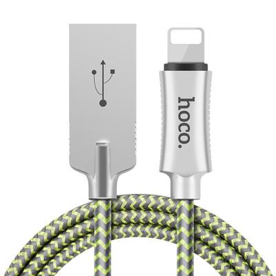 【包邮】浩酷 HOCO U10锌合金反光编织充电线 苹果Lightning快充线