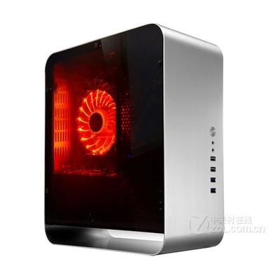乔思伯(JONSBO)UMX1 PLUS ITX 全铝机箱 侧透机箱USB3.0 银色侧透