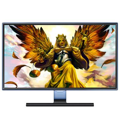 三星 S27E390HS 过滤蓝光 不闪屏  护眼系列  支持HDMI  VGA 视频输入