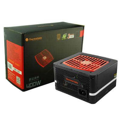 Tt(Thermaltake)额定400W 斗龙DPS-400P 电源(主动PFC/宽幅设计/12cm智能温控风扇)