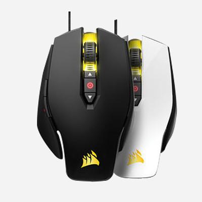 海盗船M65RGB 玩家系列 幻彩激光游戏竞技鼠标黑色白色 官方质保两年只换不修