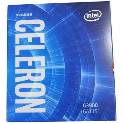 英特尔(Intel)CPU G3900 赛扬双核盒装处理器 1151接口