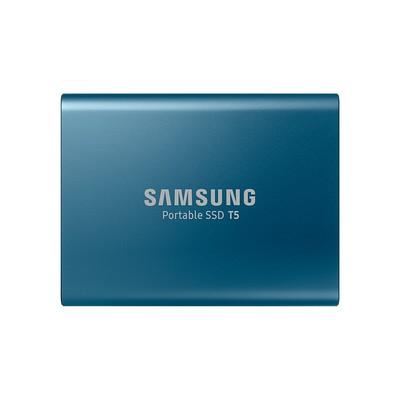 三星 移动固态硬盘250g/500G/1t/2T 可加密硬盘USB3.1 T5珊瑚蓝 500G