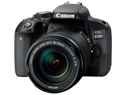佳能EOS 800D单反相机入门级套机 数码相机18-135mm IS STM镜头套机 黑色