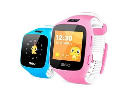 360儿童手表gps定位器学生通话微聊拍照巴迪龙5c男女手环正品 粉色