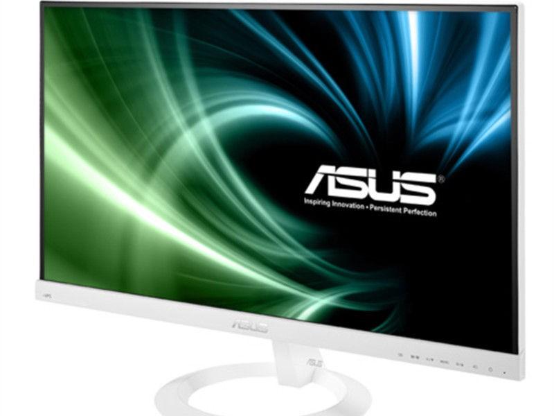 郑州迈联华硕vx229n-w白色无边框显示器现货
